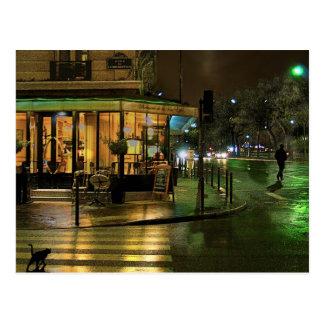 Paris Cafe at Night Postcard