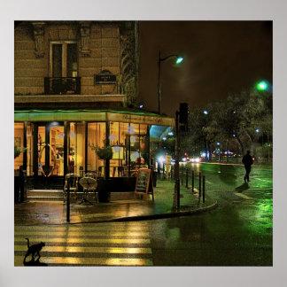 Paris Cafe at Night Print