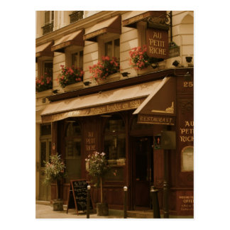 Paris Cafe by Day Postcards