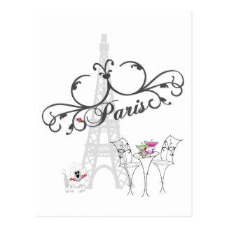Paris Cafe Postcard