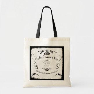 Paris Cafe Sign Tote Bags