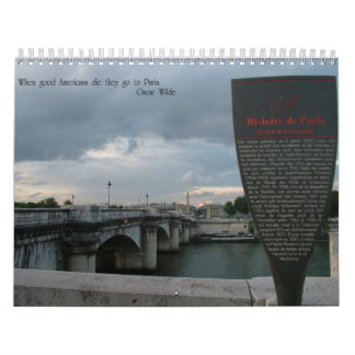París Calendarios De Pared