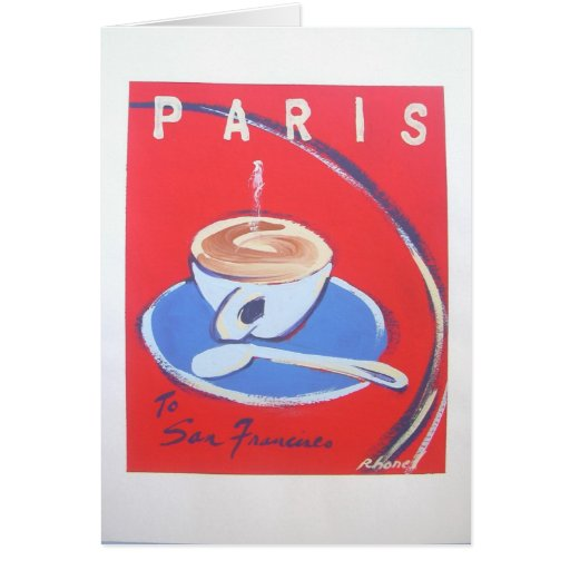 Paris Cappucinno Notes by Rhonel Roberts Stationery Note Card