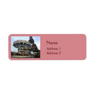 Paris Carousel (& Eiffel Tower) Label