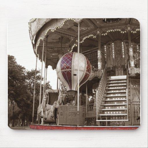 Paris Carousel Mouse Pad