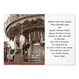 Paris Carousel Wedding Card
