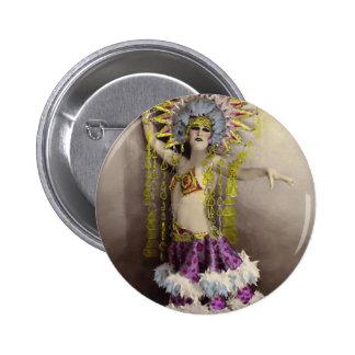 Paris Casino Costumed Dancer Pinback Button