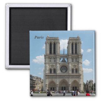 Paris - Cath�drale Notre-Dame - 2 Inch Square Magnet