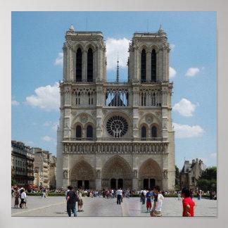 Paris - Cath�drale Notre-Dame - Poster
