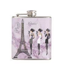Paris Celebration Flask on Purple Marble