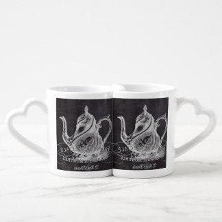 Paris Chalkboard scripts Tea party french country Coffee Mug Set
