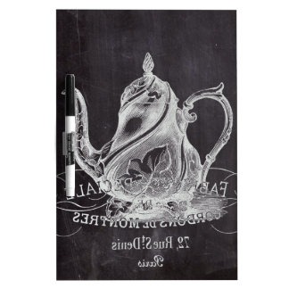 Paris Chalkboard scripts Tea party french country Dry-Erase Board