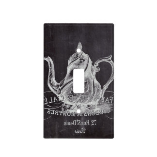 Paris Chalkboard scripts Tea party french country Light Switch Cover