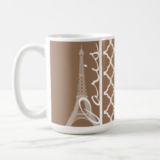 Paris; Chamoisee Quatrefoil Coffee Mug
