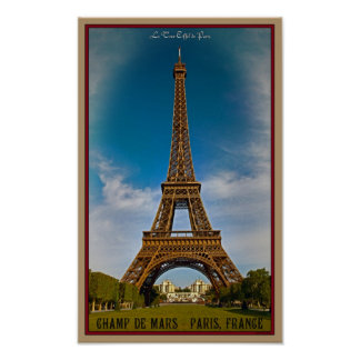 Paris - Champ de Mars Poster