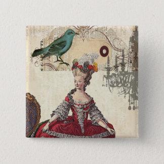 Paris Chandelier french queen  Marie Antoinette Pinback Button