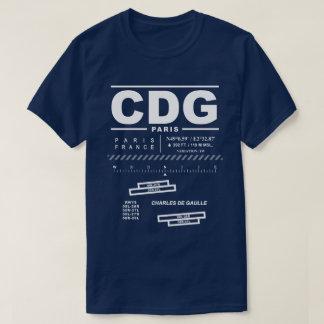 Paris Charles De Gaulle Airport CDG Tee Shirt: