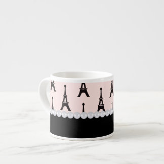 Paris Chic Espresso Mug 6 Oz Ceramic Espresso Cup