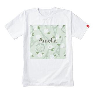 Paris,chic,vintage,mint,green,love,elegant,spring, Zazzle HEART T-Shirt