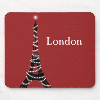 París chispea por todas partes cojín de ratón alfombrilla de ratón