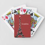 París chispea por todas partes las tarjetas del pó baraja