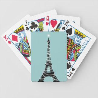 París chispea turquesa de las tarjetas del póker barajas de cartas