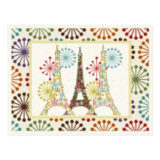 París chispeante tarjeta postal