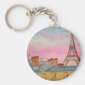 Paris Christmas2.jpg Key Chain