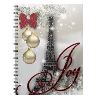 Paris Christmas Travel Journal Eiffel Tower Snow