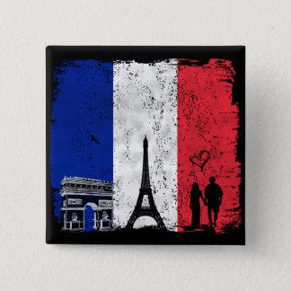 Paris city of love button