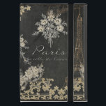 """Paris City of Love Eiffel Tower Chalkboard Floral iPad Mini Cover<br><div class=""""desc"""">Retro Vintage style but new art hand painted by Audrey Jeanne Roberts in a French, antique rococo baroque Parisian style. Chalkboard background with a chalk drawn floral posey and scroll swirl flourish border in an exquisitely feminine design. The Eiffel tower stands tall next to the text, &quot;Paris, la ville de...</div>"""