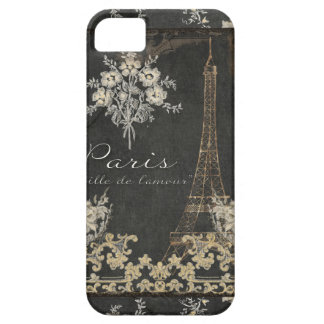 Paris City of Love Eiffel Tower Chalkboard Floral iPhone SE/5/5s Case