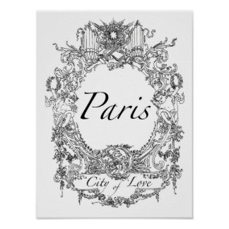 Paris : City of Love Poster Art Illustration
