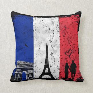 Paris city of love throw pillow