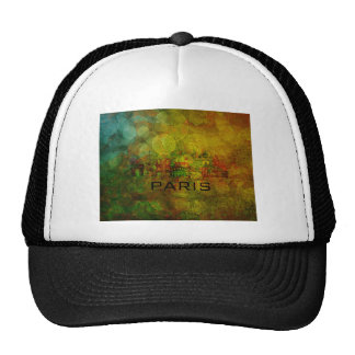 Paris City Skyline on Grunge Background Trucker Hat