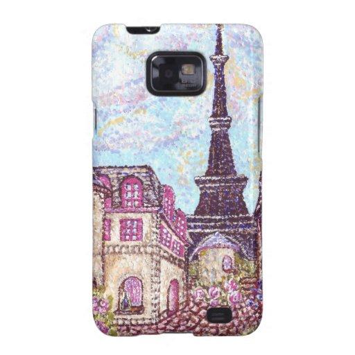 Paris Cityscape pointillism on Samsung Galaxy Samsung Galaxy S2 Case