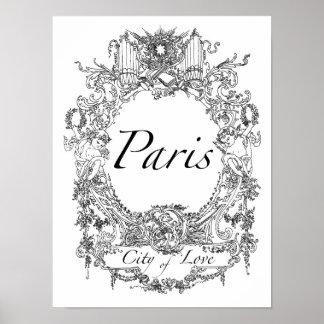 París: Ciudad del ejemplo del arte del poster del