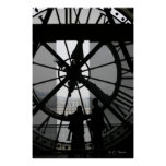 Paris Clock Poster