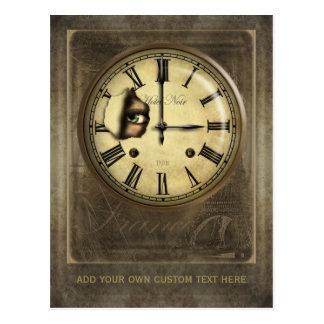 Paris Clock Watching Personalized Postcard