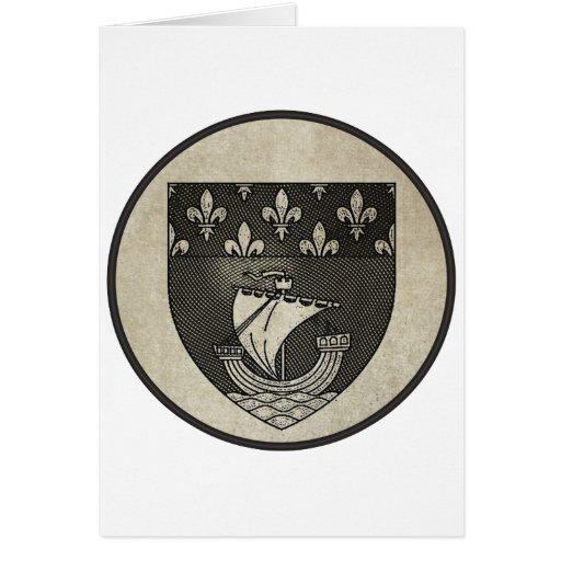 Paris Coat of Arms Card