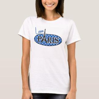 Paris; Cobalt Blue Quatrefoil T-Shirt