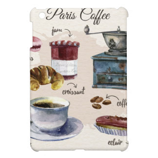 Paris coffee and pastry treats illustration iPad mini covers