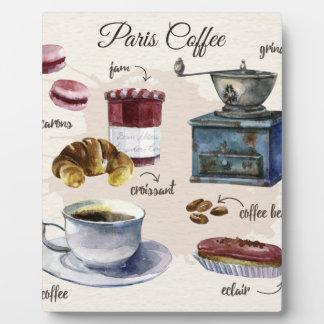 Paris coffee plaque