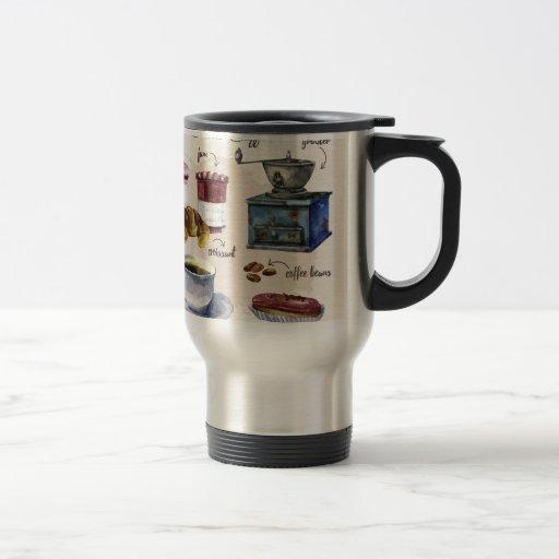Paris coffee travel mug