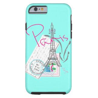 """""""París con el amor"""" Eiffel+torre y letra Funda Para iPhone 6 Tough"""