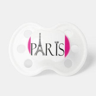 París con el pacificador de la torre Eiffel Chupetes Para Bebés