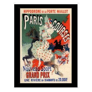 Paris Courses Postcard