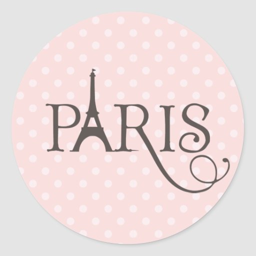 París de lujo pegatina redonda