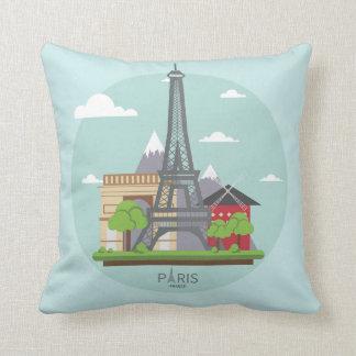 Paris Deaming Throw Pillow