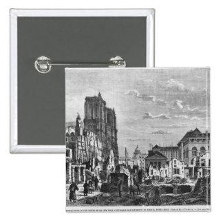 Paris demolition of a part of the Cite Buttons